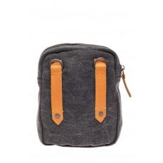 На фото 3 - Маленькая мужская сумка через плечо или на пояс, цвет серый
