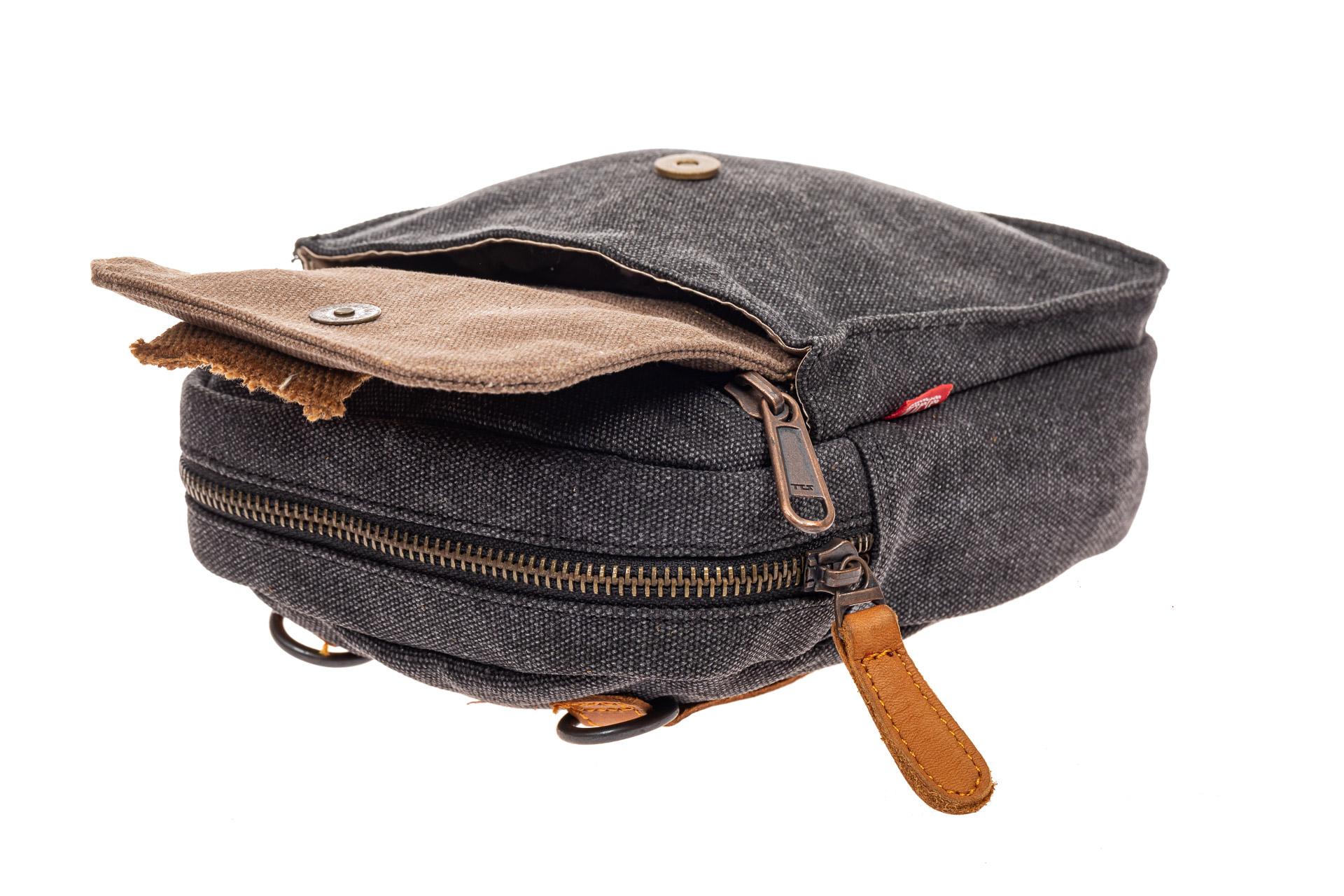 На фото 4 - Маленькая мужская сумка через плечо или на пояс, цвет серый