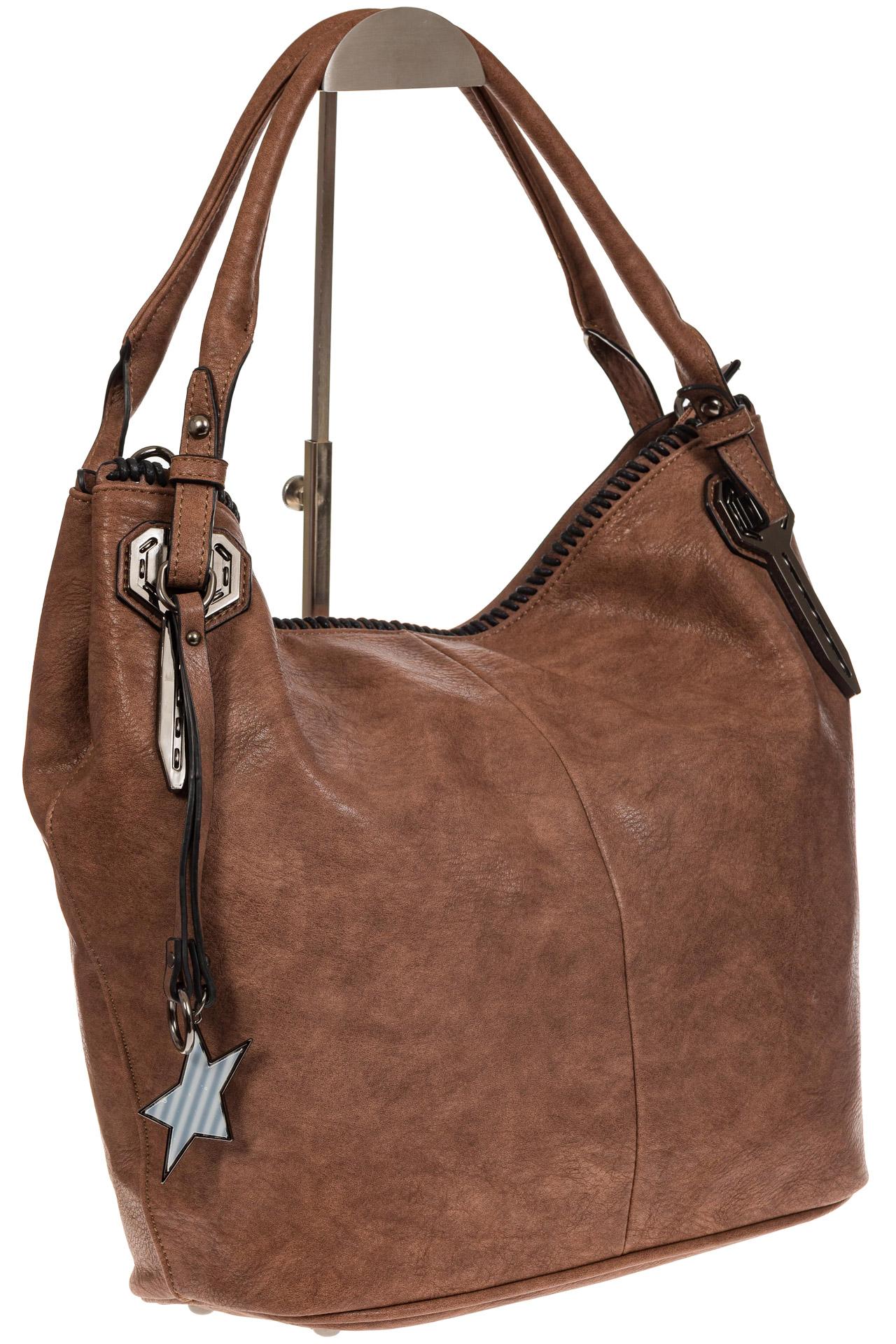 На фото 1 - Мягкая женская сумка из искусственной кожи пудрового цвета