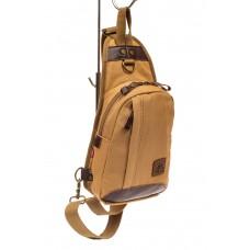 На фото 1 - Текстильный слинг-рюкзак для мужчин, цвет п...