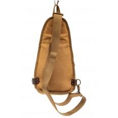 На фото 3 - Текстильный слинг-рюкзак для мужчин, цвет песочный