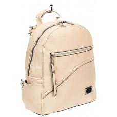 На фото 1 - Белый женский рюкзак из мягкой экокожи