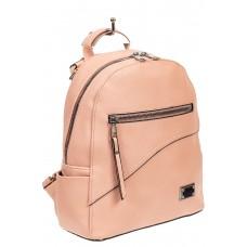 На фото 1 - Лососевый женский рюкзак из мягкой экокожи