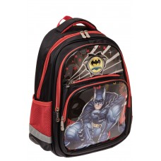На фото 1 - Детский рюкзак для школы с принтом, цвет кр...
