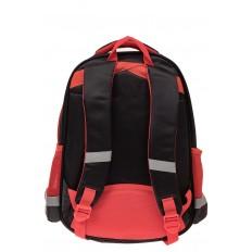 На фото 2 - Детский рюкзак для школы с принтом, цвет красный