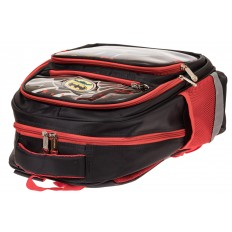 На фото 3 - Детский рюкзак для школы с принтом, цвет красный