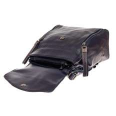 На фото 3 - Рюкзак-трансформер из натуральной кожи, цвет синий