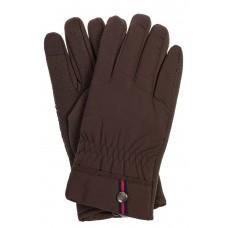 На фото 1 - Утепленные перчатки мужские, цвет коричневый