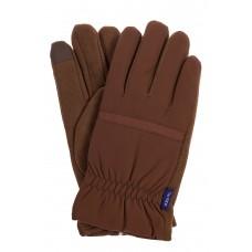 На фото 1 - Утепленные перчатки для мужчин, цвет коричневый