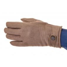 На фото 1 - Классические зимние перчатки мужские, цвет бежевый