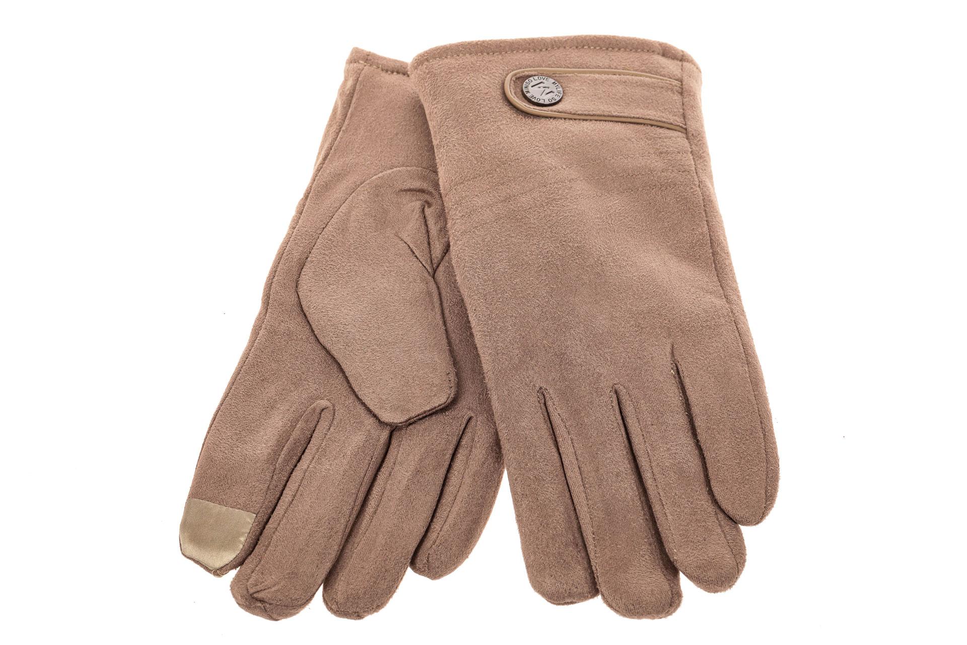 На фото 2 - Классические зимние перчатки мужские, цвет бежевый