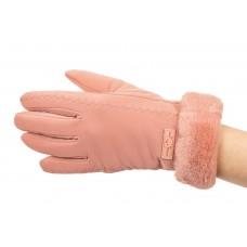 На фото 1 - Элегантные теплые перчатки для женщин, цвет розовый