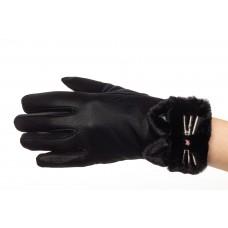 На фото 1 - Удлиненные перчатки женские для зимы, цвет черный