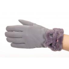 На фото 1 - Удлиненные перчатки женские для зимы, цвет серый