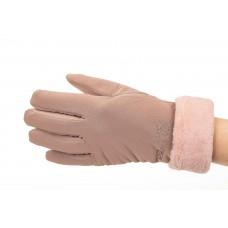 На фото 1 - Теплые перчатки женские с эффектом патины, цвет бежевый