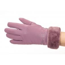 На фото 1 - Теплые перчатки женские с эффектом патины, цвет сиреневый