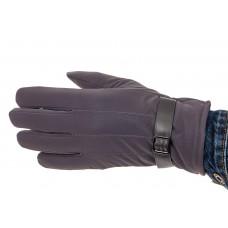 На фото 1 - Перчатки мужские для сенсорного экрана, цвет серо-синий