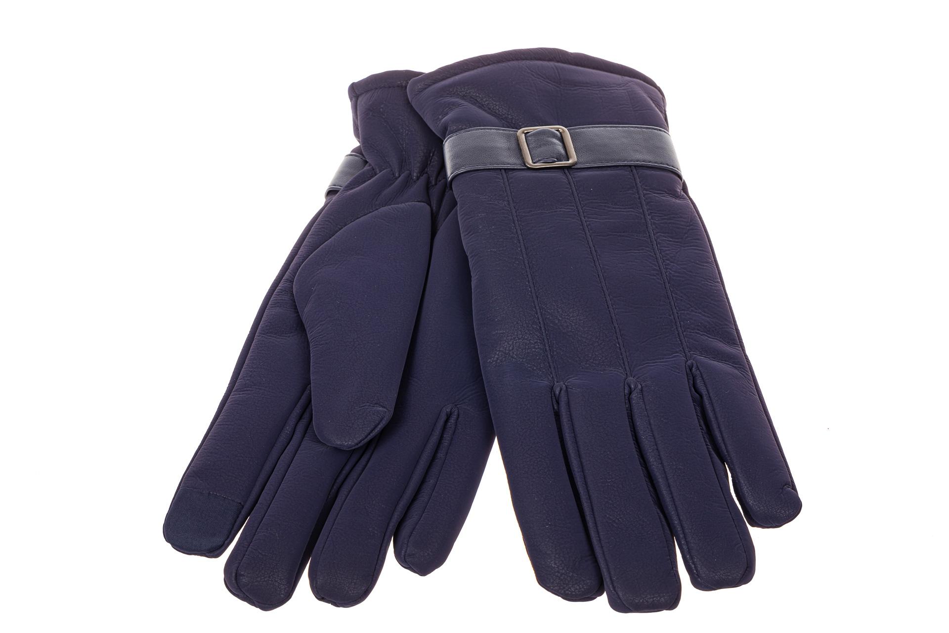 На фото 2 - Перчатки под кожу для мужчин, цвет синий