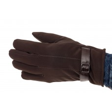 На фото 1 - Перчатки под кожу для мужчин, цвет коричневый