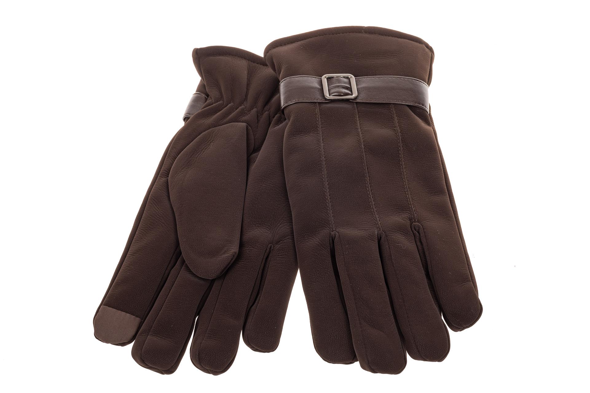 На фото 2 - Перчатки под кожу для мужчин, цвет коричневый