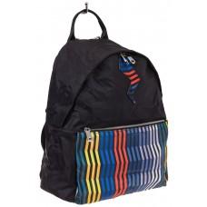 На фото молодежный рюкзак, цвет – черный, материал – текстиль, купить оптом в магазине Грета