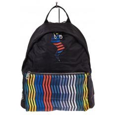 На фото 2 - Молодежный рюкзак из текстиля, цвет – черный