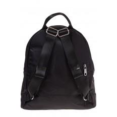 На фото 3 - Молодежный рюкзак из текстиля, цвет – черный
