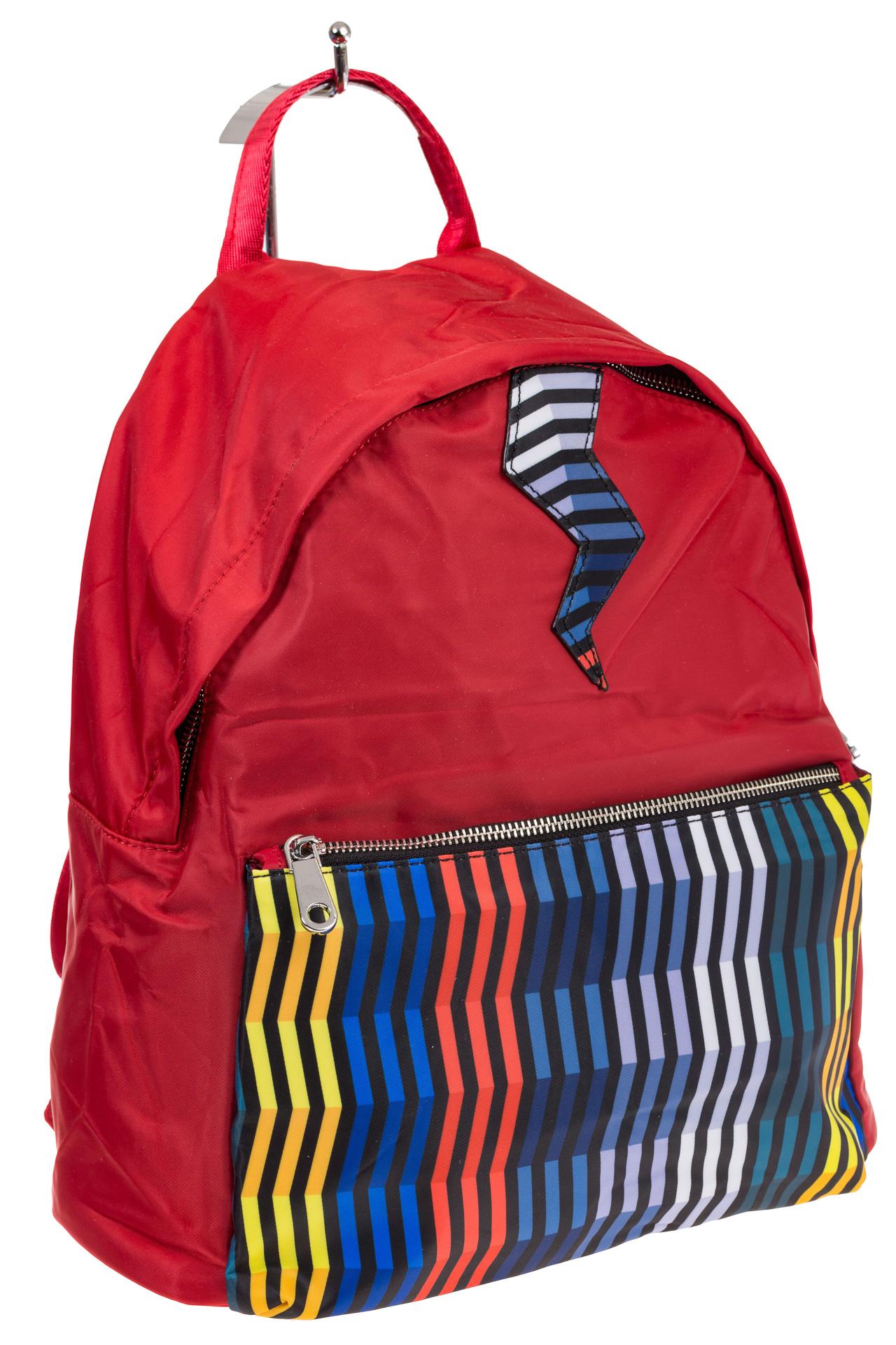На фото молодежный рюкзак, цвет – красный, материал – текстиль, купить оптом в магазине Грета