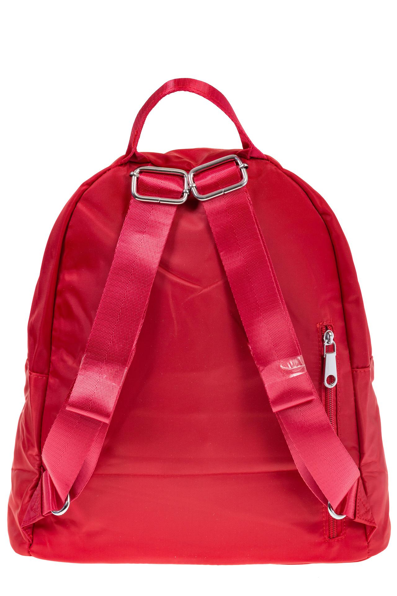 На фото 3 - Молодежный рюкзак из текстиля, цвет – красный