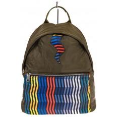 На фото 2 - Молодежный рюкзак из текстиля, цвет – защитный