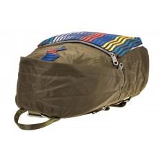 На фото 4 - Молодежный рюкзак из текстиля, цвет – защитный