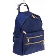 На фото элегантный рюкзачок для женщин, цвет – синий, материал – текстиль, купить оптом в магазине Грета