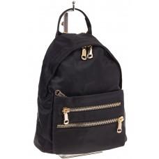 На фото элегантный рюкзачок для женщин, цвет – черный, материал – текстиль, купить оптом в магазине Грета
