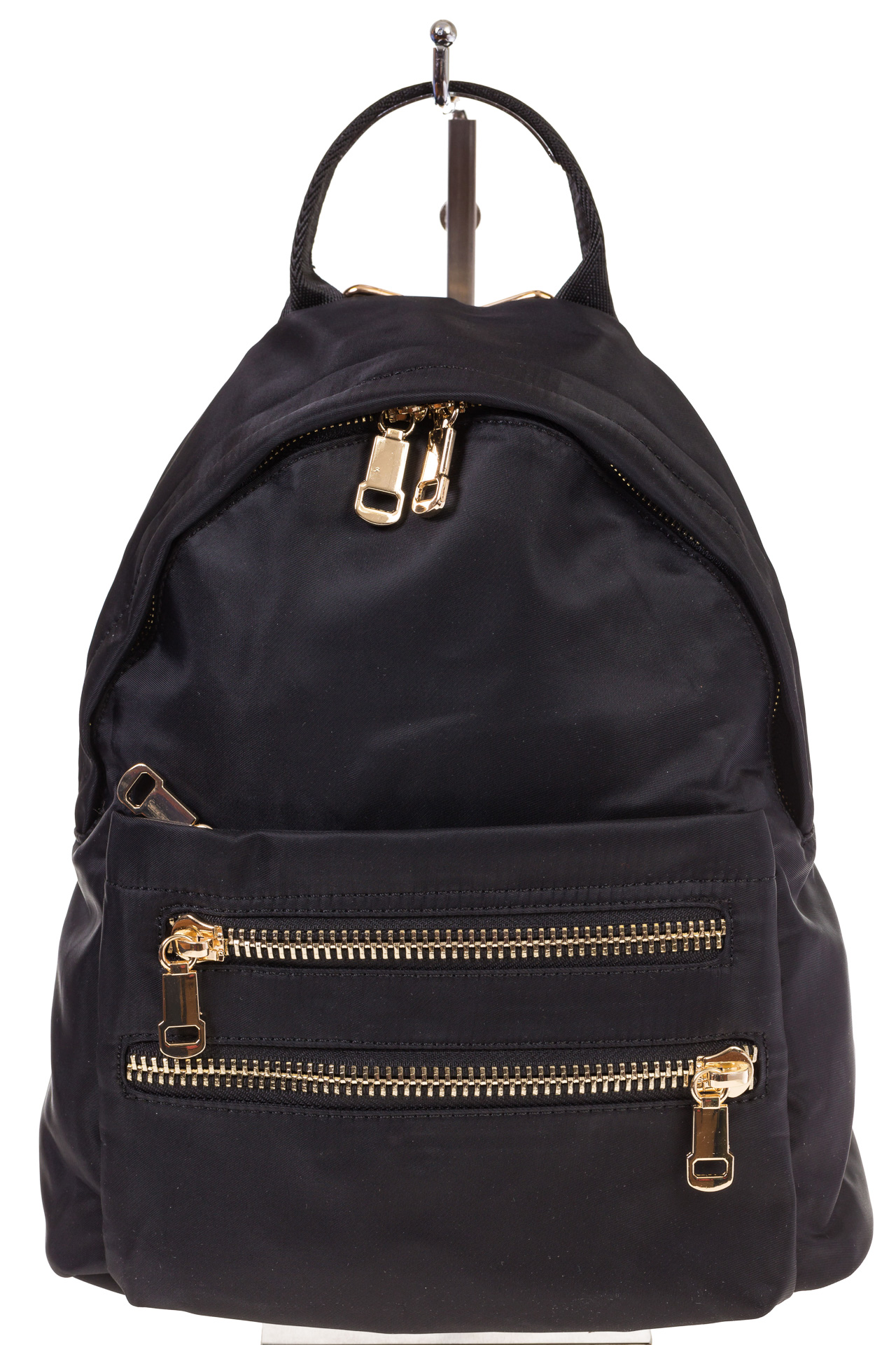 На фото 2 - Элегантный женский рюкзачок, цвет – черный
