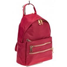 На фото элегантный рюкзачок для женщин, цвет – красный, материал – текстиль, купить оптом в магазине Грета