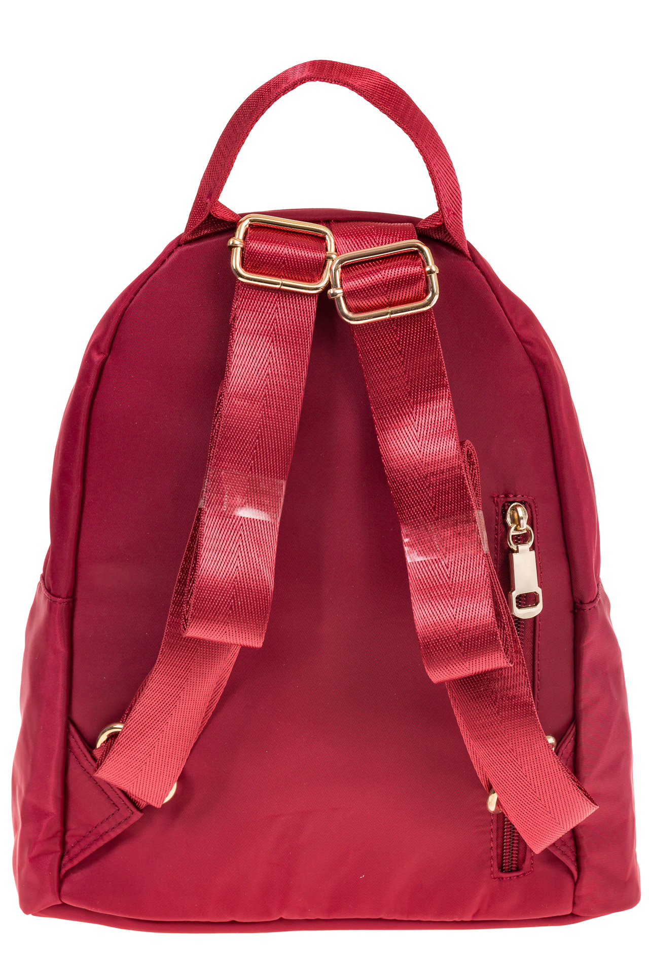 На фото 3 - Элегантный женский рюкзачок, цвет – красный
