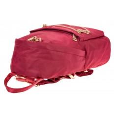 На фото 4 - Элегантный женский рюкзачок, цвет – красный