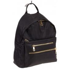 На фото аккуратный рюкзачок для женщин, цвет – черный, материал – текстиль, купить оптом в магазине Грета