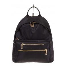 На фото 2 - Аккуратный женский рюкзачок из текстиля, цвет – черный