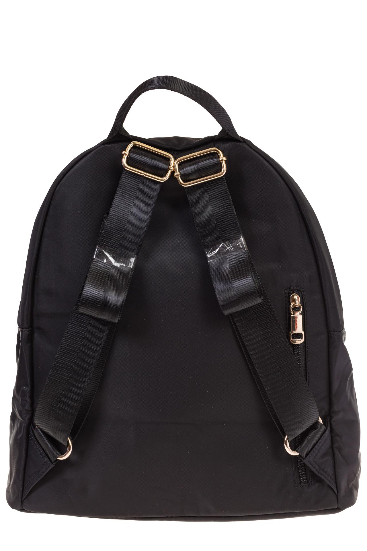 На фото 3 - Аккуратный женский рюкзачок из текстиля, цвет – черный