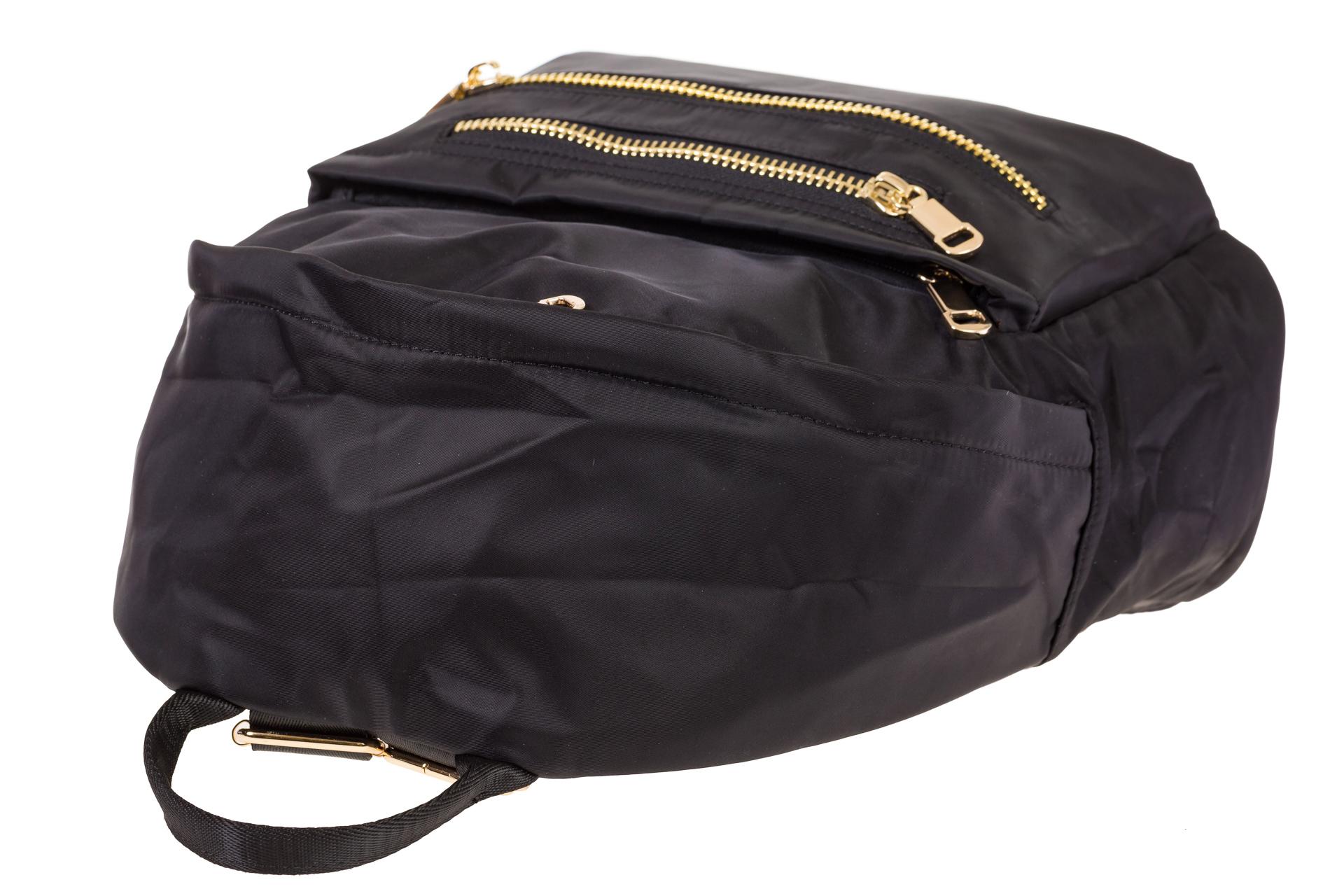На фото 4 - Аккуратный женский рюкзачок из текстиля, цвет – черный