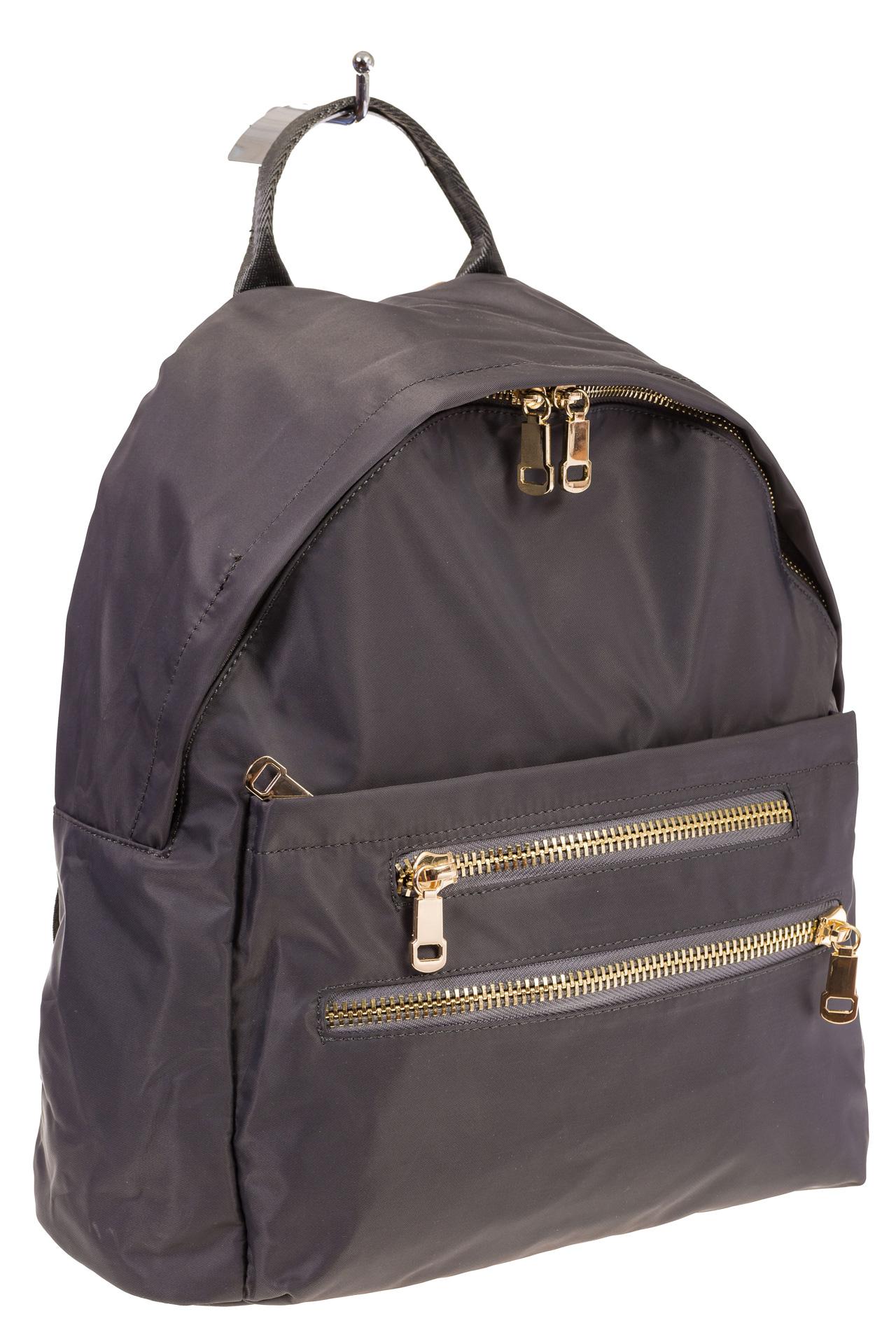 На фото аккуратный рюкзачок для женщин, цвет – серый, материал – текстиль, купить оптом в магазине Грета