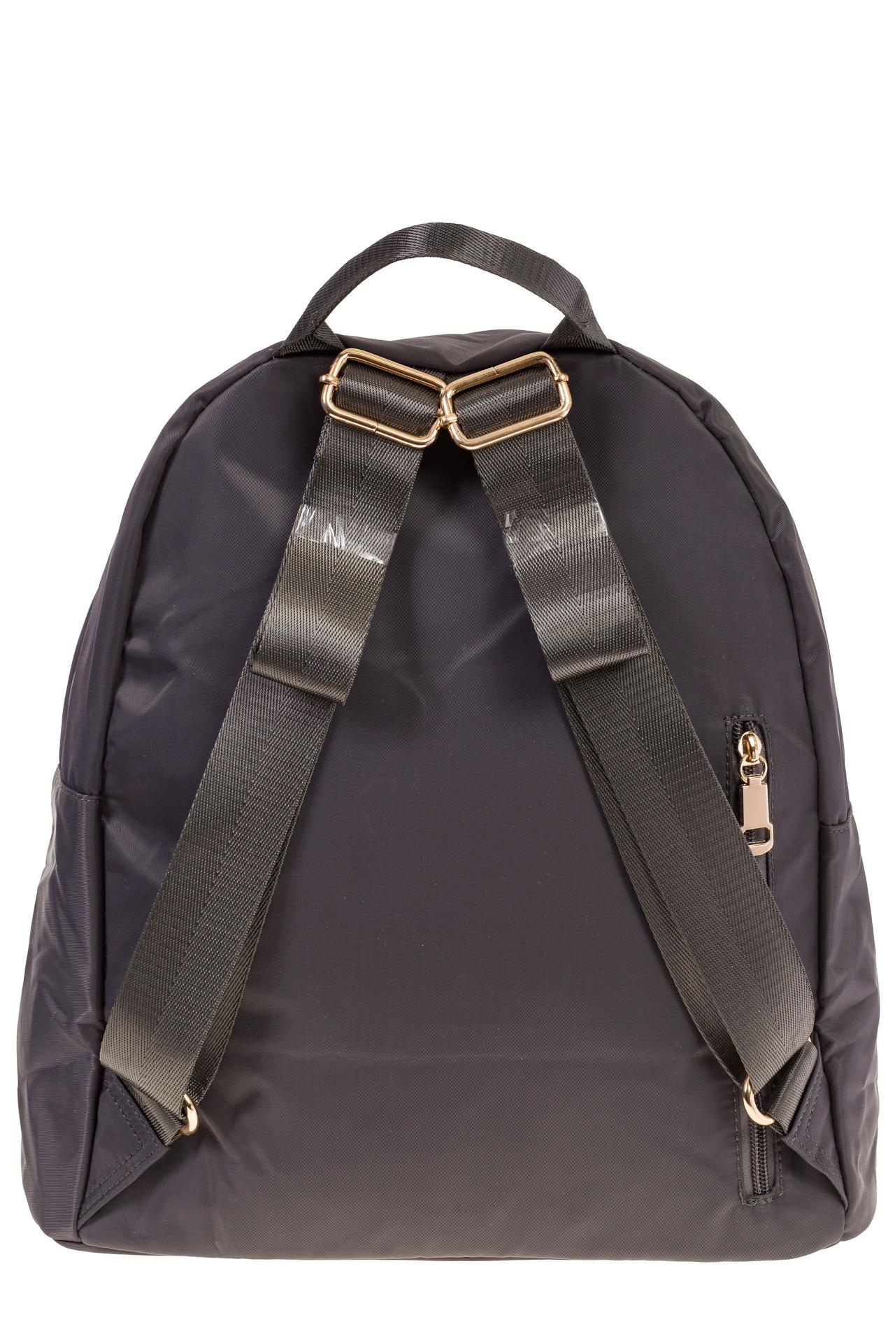 На фото 3 - Аккуратный женский рюкзачок из текстиля, цвет – серый