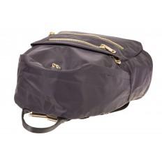 На фото 4 - Аккуратный женский рюкзачок из текстиля, цвет – серый
