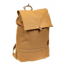 На фото 1 - Городской рюкзак мужской из джинсы, цвет песочный