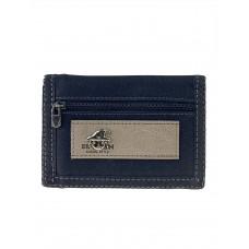 На фото 1 - Мужской джинсовый кошелёк, цвет чёрный