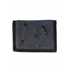 На фото 1 - Мужской джинсовый кошелёк, цвет серый