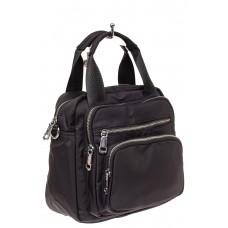 На фото 1 - Текстильный рюкзак-трансформер, цвет черный