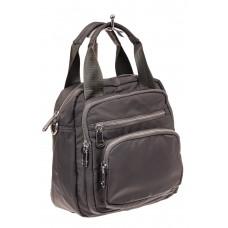 На фото 1 - Текстильный рюкзак-трансформер, цвет серый