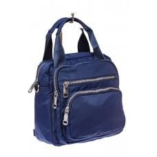 На фото 1 - Текстильный рюкзак-трансформер, цвет синий